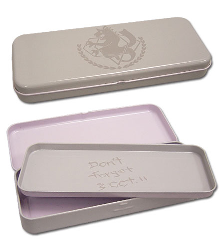 Fullmetal Alchemist Brotherhood State Alchemist Tin Pencil Case, an officially licensed Full Metal Alchemist Pencil Case