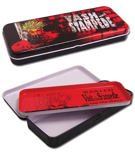 Trigun Vash The Stamped Tin Pencil, an officially licensed product in our Trigun Pencil Cases department.