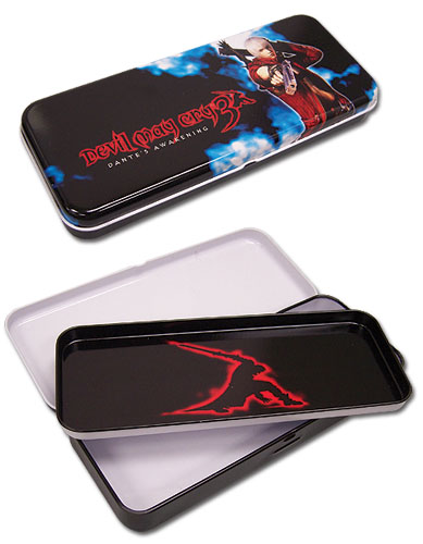 Devil May Cry Dante Tin Pencil Case, an officially licensed Devil May Cry product at B.A. Toys.