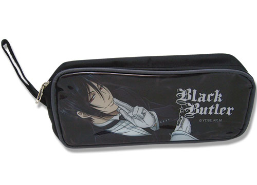 Black Butler Sebastian Fabric Pencil Case, an officially licensed Black Butler product at B.A. Toys.