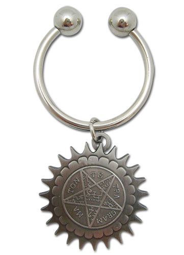 Black Butler Pentagram Metal Keychain, an officially licensed product in our Black Butler Key Chains department.