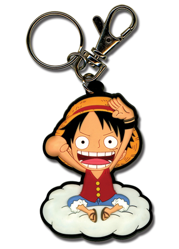 One Piece Luffy On The Cloud Pvc Keychain, an officially licensed product in our One Piece Key Chains department.