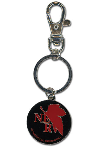 Evangelion Logo Metal Keychain officially licensed product at B.A. Toys.