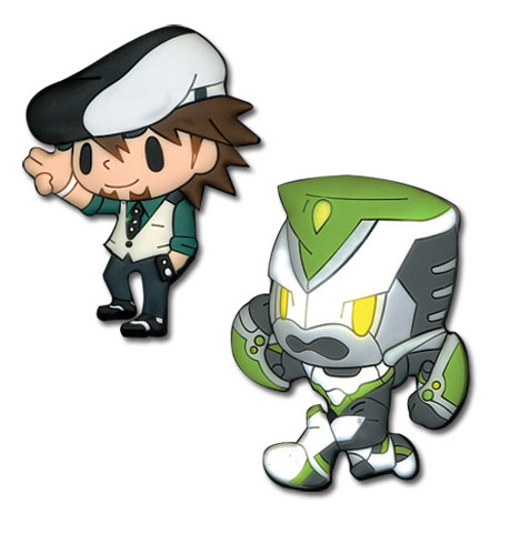 Tiger & Bunny Kotetsu Wild Tiger Pvc Pinset officially licensed Tiger & Bunny Pins & Badges product at B.A. Toys.