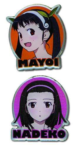 Nisemonogatari - Mayoi & Nadeko Pin Set, an officially licensed product in our Nisemongatari Pins & Badges department.