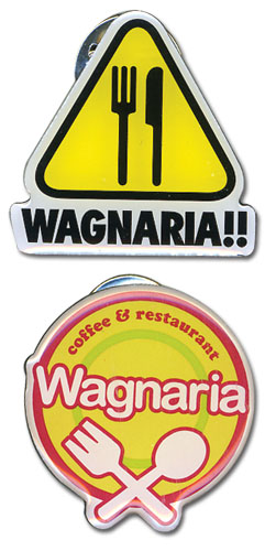 Wagnaria!! Logo Metal Pinset officially licensed Wagnaria!! Pins & Badges product at B.A. Toys.