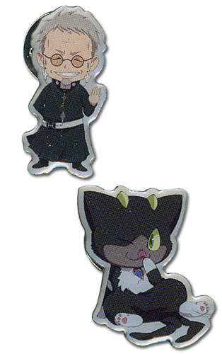 Blue Exorcist Shiro & Kuro 1 Pinset, an officially licensed Blue Exorcist product at B.A. Toys.