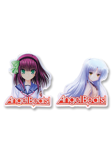 Angel Beats Yuri & Angel Metal Pinset officially licensed Angel Beats Pins & Badges product at B.A. Toys.
