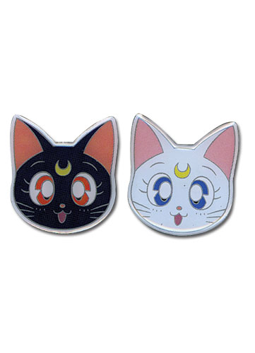 Sailormoon Luna & Artemis Metal Pinset officially licensed Sailor Moon Pins & Badges product at B.A. Toys.