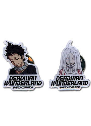 Deadman Wonderland Shiro & Ganta Eye Closing Version Pinset officially licensed Deadman Wonderland Pins & Badges product at B.A. Toys.