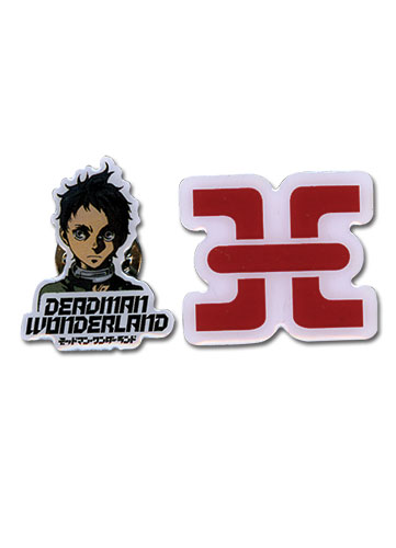 Deadman Wonderland Ganta & Prison Metal Pinset, an officially licensed Deadman Wonderland Button