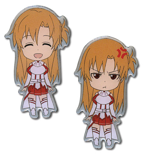 Sword Art Online Happy & Angry Asuna Pinset officially licensed Sword Art Online Pins & Badges product at B.A. Toys.