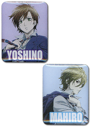 Blast Of Tempest - Mahiro & Yoshino Pin Set officially licensed Blast Of Tempest Pins & Badges product at B.A. Toys.