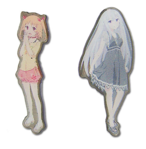 Oreshura - Chiwa & Suzuha Pin Set officially licensed Oreshura Pins & Badges product at B.A. Toys.