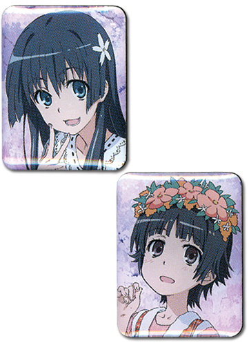 A Certain Scientific Railgun - Saten & Uiharu Pin Set officially licensed A Certain Scientific Railgun Pins & Badges product at B.A. Toys.
