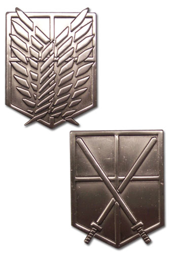 Attack On Titan - 104th Trainees Squad & Scouting Legion Emblem Pins, an officially licensed Attack on Titan Pin / Badge