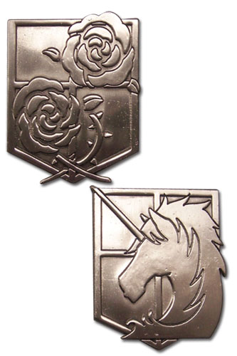 Attack On Titan - Stationary Guard & Military Police Emblem Pins officially licensed Attack On Titan Pins & Badges product at B.A. Toys.