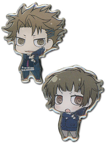 Psycho Pass - Sd Kagari & Akane Metal Pin Set officially licensed Psycho Pass Pins & Badges product at B.A. Toys.