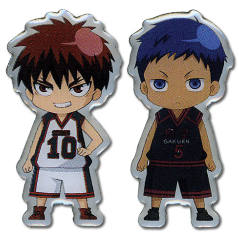 Kuroko's Basketball - Taiga And Aomine Sd Metal Pin officially licensed Kuroko'S Basketball Pins & Badges product at B.A. Toys.