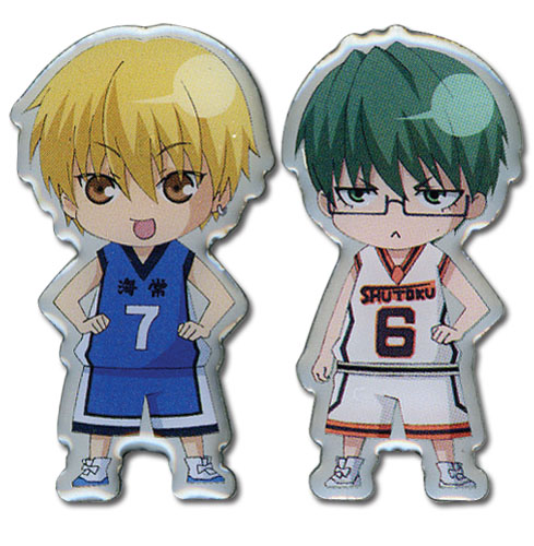 Kuroko's Basketball - Ryota And Yukio Sd Metal Pin officially licensed Kuroko'S Basketball Pins & Badges product at B.A. Toys.