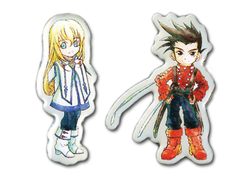 Tales Of Symphonia - Sd Lloyd & Colette Pin Set officially licensed Tales Of Symphonia Pins & Badges product at B.A. Toys.
