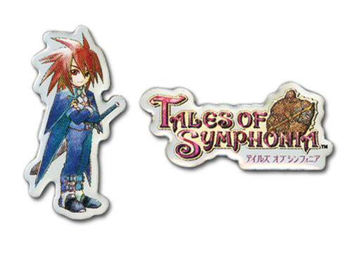 Tales Of Symphonia - Sd Kratos & Logo Pin Set officially licensed Tales Of Symphonia Pins & Badges product at B.A. Toys.