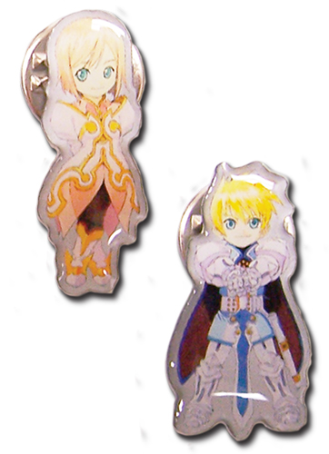 Tales Of Vesperia - Sd Flynn Sd Estelle Pin Set officially licensed Tales Of Vesperia Pins & Badges product at B.A. Toys.