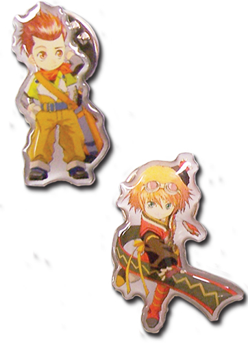 Tales Of Vesperia - Sd Rita And Sd Karol Pinset, an officially licensed product in our Tales Of Vesperia Pins & Badges department.