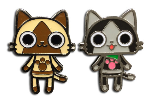 Monster Hunter - Airou & Merarou Metal Pins officially licensed Monster Hunter Pins & Badges product at B.A. Toys.