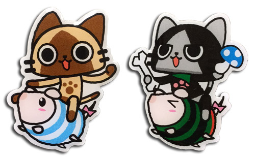 Monster Hunter - Airou, Merarou On Poogie Metal Pins officially licensed Monster Hunter Pins & Badges product at B.A. Toys.