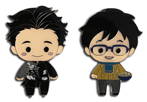 Yuri On Ice!!! - Sd Yuri Pinset officially licensed Yuri!!! On Ice Pins & Badges product at B.A. Toys.