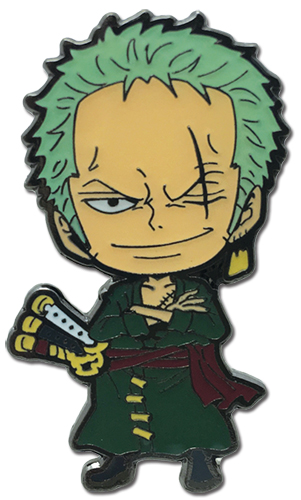 One Piece - Fishman Island Sd Zoro Enamel Pin officially licensed One Piece Pins & Badges product at B.A. Toys.