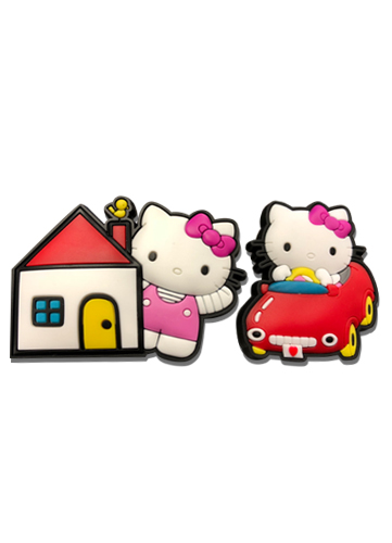 Hello Kitty - Hello Kitty Pvc Pin Set officially licensed Hello Kitty Pins & Badges product at B.A. Toys.