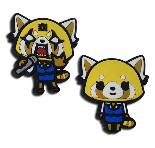 Aggretusko - Happy And Competitive Pvc Pin, an officially licensed Everything Else product at B.A. Toys.