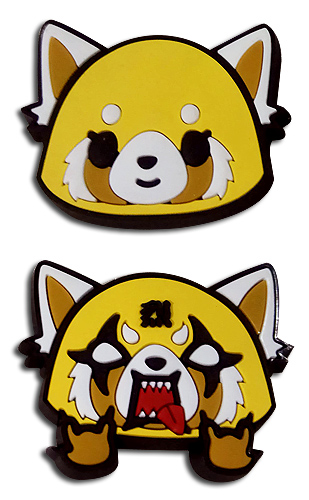 Aggretsuko - Happy & Angry Pvc Pins, an officially licensed Aggretsuko product at B.A. Toys.