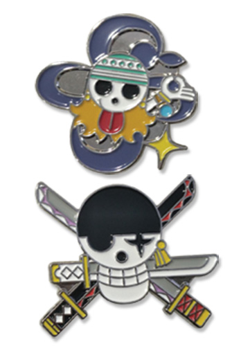 One Piece - Nami & Zoro Pin Set 1.5'', an officially licensed product in our One Piece Pins & Badges department.