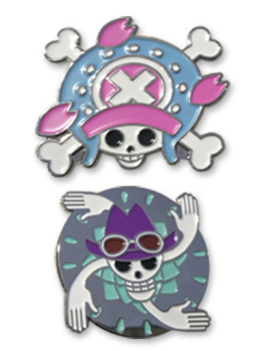 One Piece - Chopper & Robin Skull Pin Set 1.5