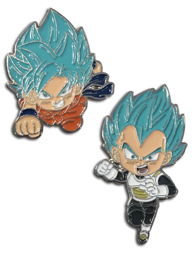Dragon Ball Super - Ssgss & Ssgss Vegeta Enamel Pins officially licensed Dragon Ball Super Pins & Badges product at B.A. Toys.