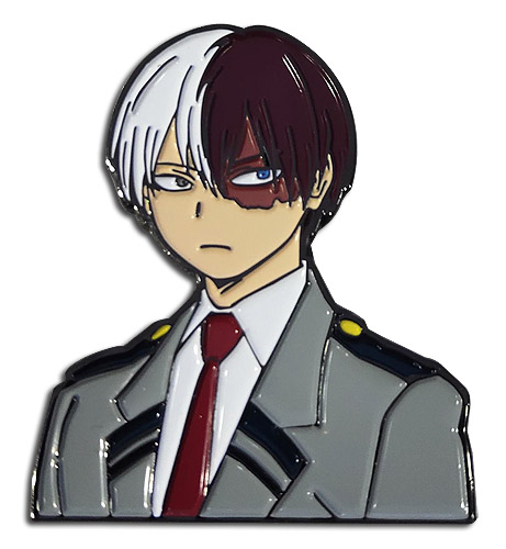 My Hero Academia - Todoroki Enamel Pin 2'' officially licensed My Hero Academia Pins & Badges product at B.A. Toys.