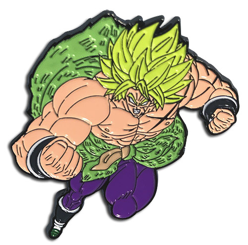 Dragon Ball Super Broly - Ss Broly Attack Pin officially licensed Dragon Ball Super Broly Pins & Badges product at B.A. Toys.