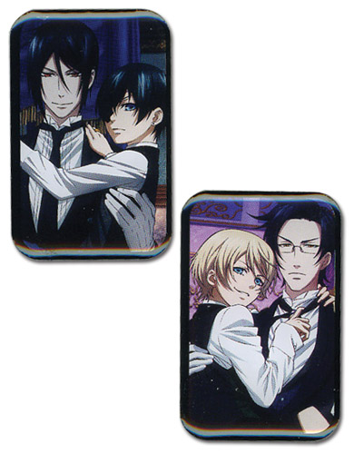 Black Butler 2 - Main Character Pins officially licensed Black Butler Pins & Badges product at B.A. Toys.