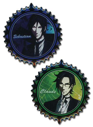 Black Butler 2 - Sebastian & Claude Pins officially licensed Black Butler Pins & Badges product at B.A. Toys.