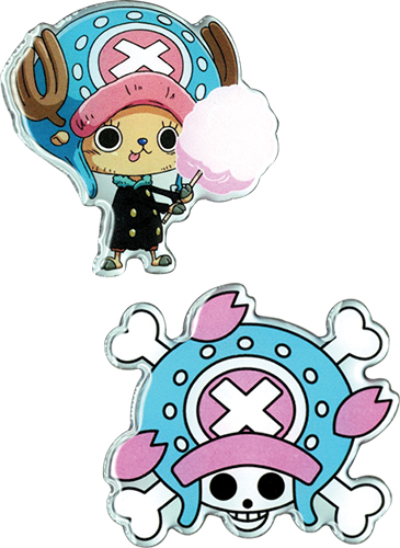 One Piece - Chopper & Chopper Skull Metal Pins officially licensed One Piece Pins & Badges product at B.A. Toys.