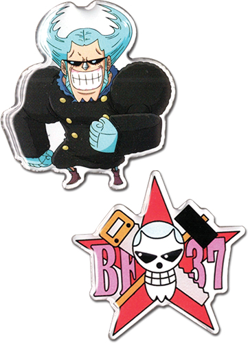 One Piece - Flanky & Flanky Skull Metal Pins, an officially licensed product in our One Piece Pins & Badges department.