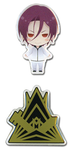 Free! - Sd Rin & Samezuka Sc Icon Pin Set officially licensed Free! Pins & Badges product at B.A. Toys.