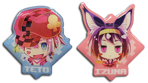 No Game No Life - Izuna & Teto Metal Pins officially licensed No Game No Life Pins & Badges product at B.A. Toys.