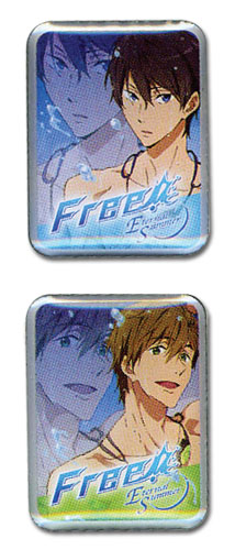 Free! 2 - Haruka & Makoto Pin Set officially licensed Free! Pins & Badges product at B.A. Toys.