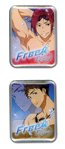 Free! 2 - Rin & Sousuke Pin Set officially licensed Free! Pins & Badges product at B.A. Toys.