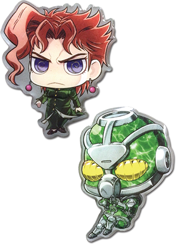 Jojo - Iggy & Magiciansred Sd Pin Set officially licensed Jojo'S Bizarre Adventure Pins & Badges product at B.A. Toys.
