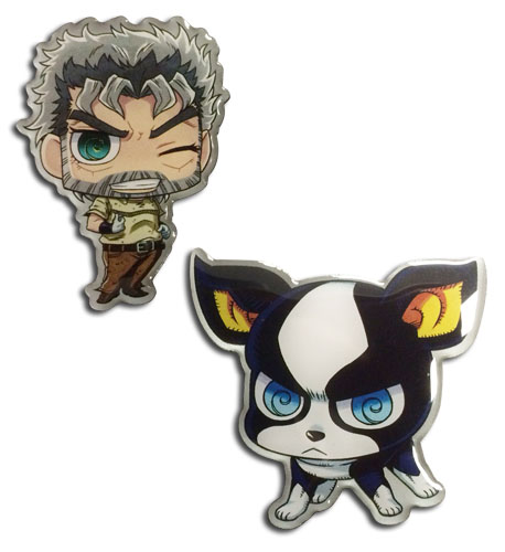 Jojo's Bizarre Adventure - Iggy & Joseph Sd Pin officially licensed Jojo'S Bizarre Adventure Pins & Badges product at B.A. Toys.